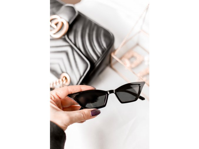 Čierne cateye okuliare Elsa