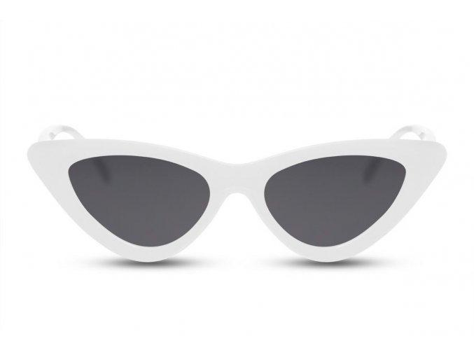 Biele cateye okuliare Ally