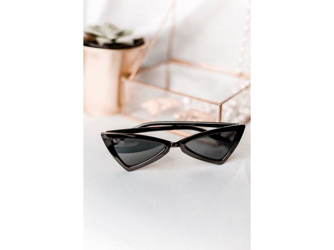 Čierne cateye okuliare Margot