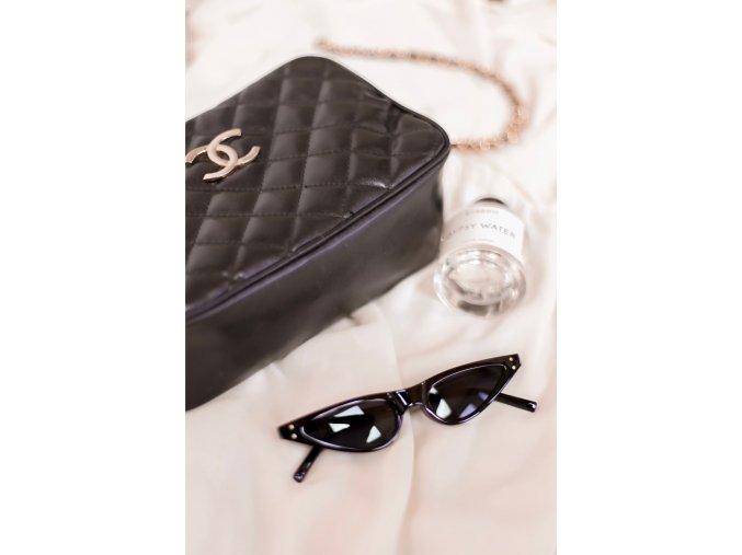 Štýlové čierne okuliare Bella