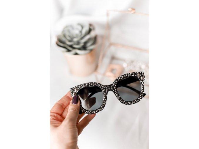 Čierne okuliare s hviezdičkami Danny