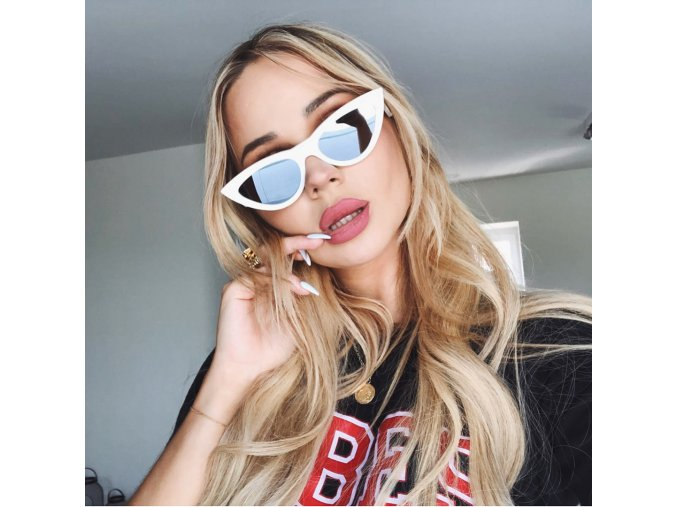 Biele cateye okuliare Delia