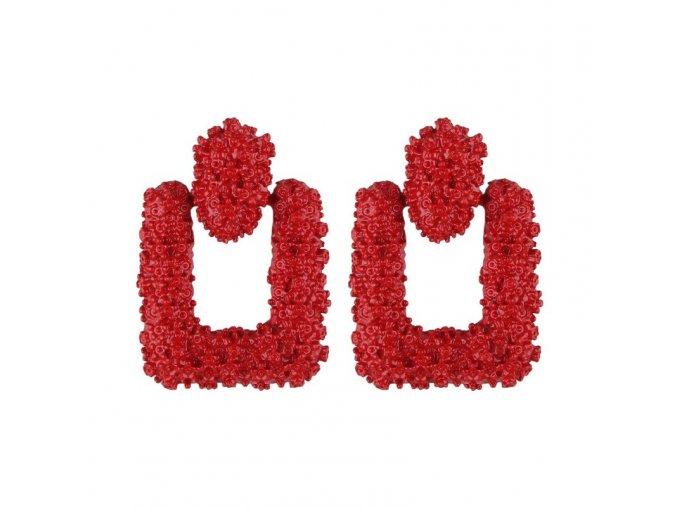 Červené náušnice náušnice Luxe