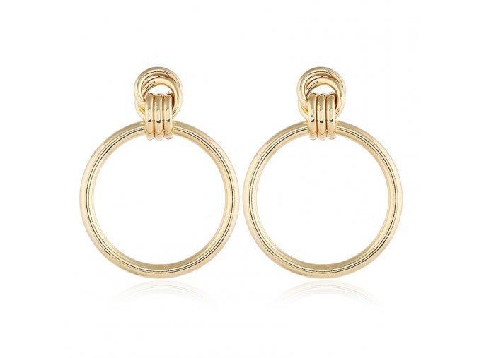 Zlaté kruhové náušnice Kendall