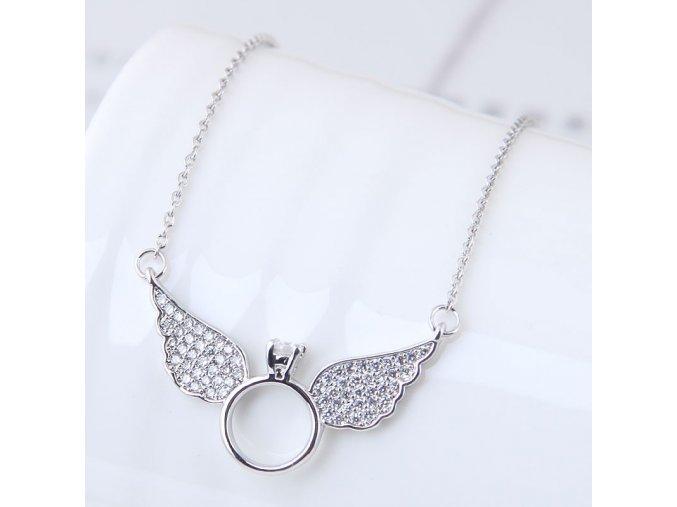 Strieborný náhrdelník Wings