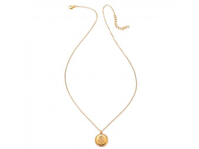 Zlatý náhrdelník Vintage Rose 1