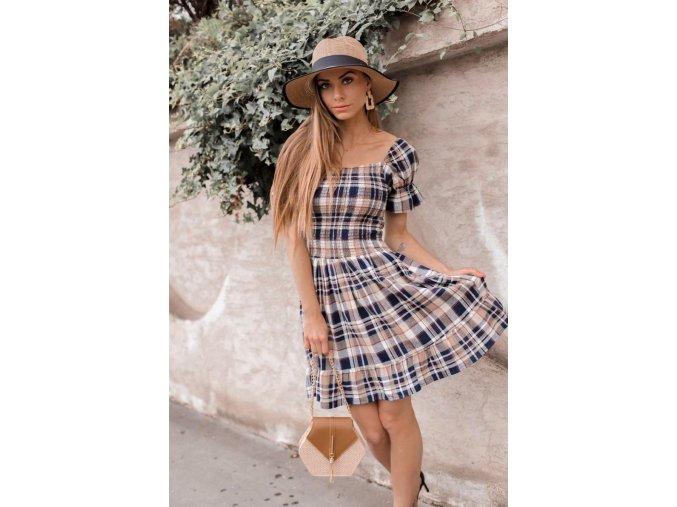 Bavlnené kárované šaty