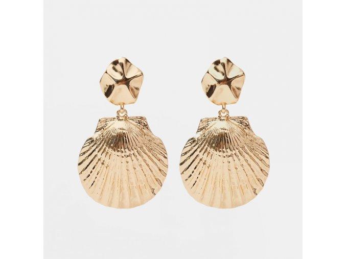 Zlaté náušnice Shell