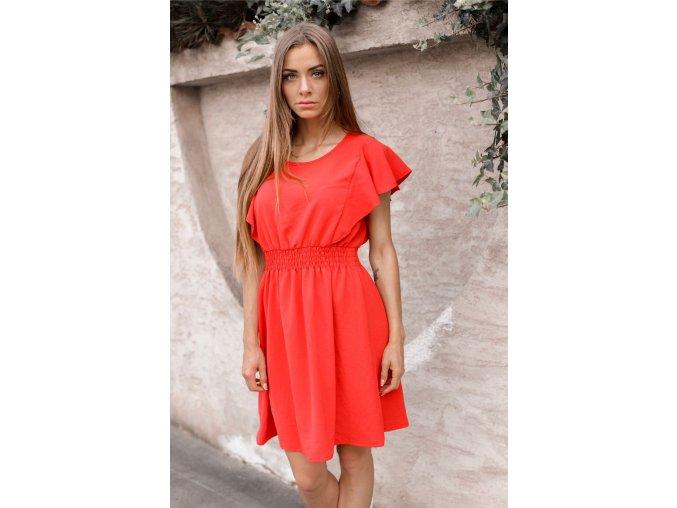 Ležérne červené šaty
