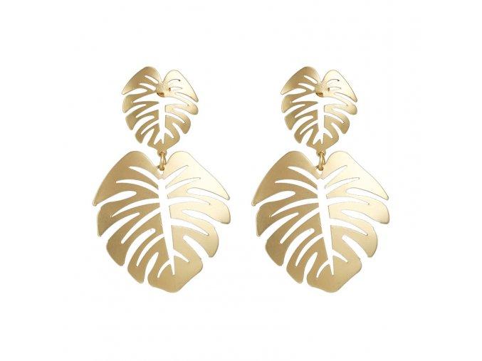 Zlaté náušnice Palms