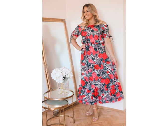 Kvetinové maxi šaty