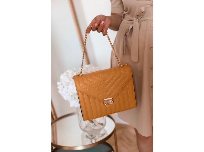 Horčicovo-žltá dámska kabelka