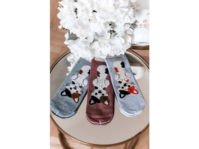 Set troch dámskych ponožiek Kitty