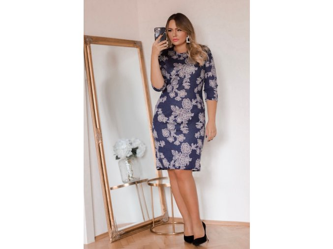 Tmavo-modré šaty Roses