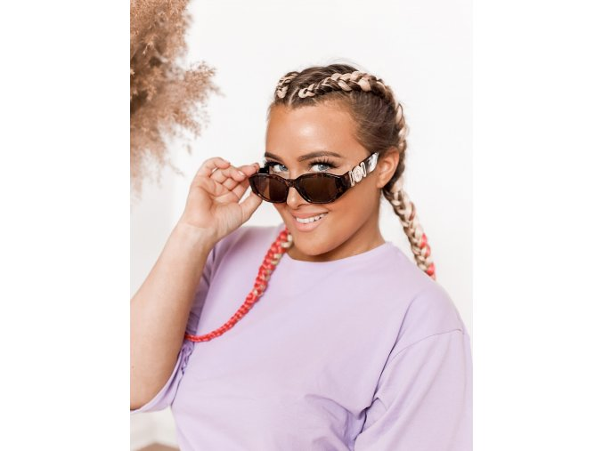 Hnedé slnečné okuliare Ella