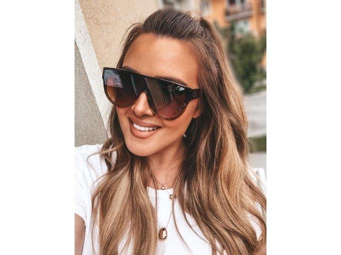 Slnečné okuliare Siena v hnedej
