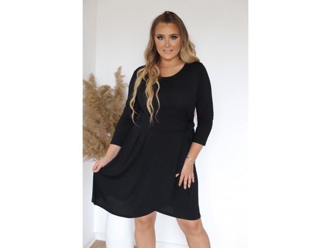 Čierne krátke koktejlové šaty