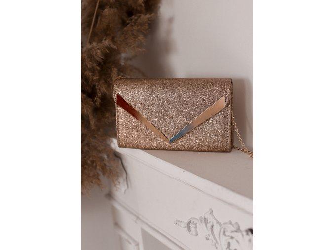 Zlatá listová kabelka