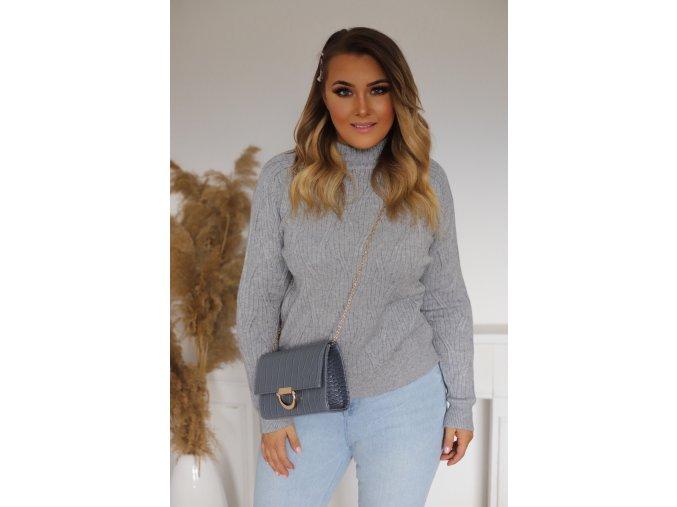 Dámsky sivý sveter