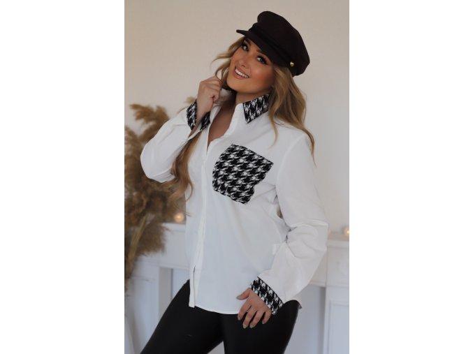 Bielo-čierna košeľa