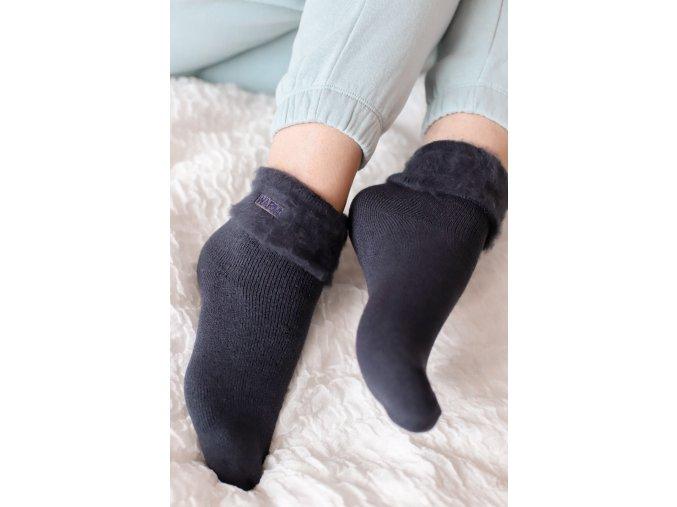 Teplé ponožky WARM - tmavomodrá