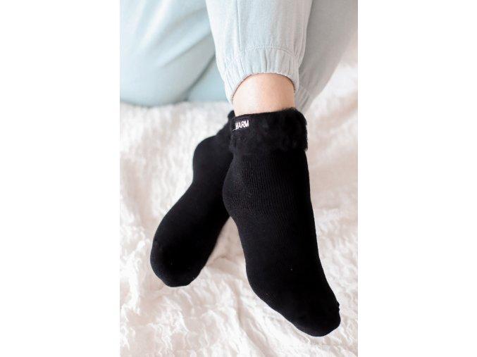 Teplé ponožky WARM - čierna