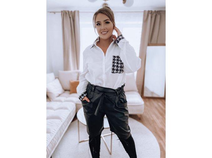 Čierne koženkové šortky