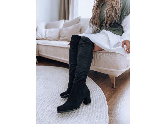 Čierne čižmy nad kolená