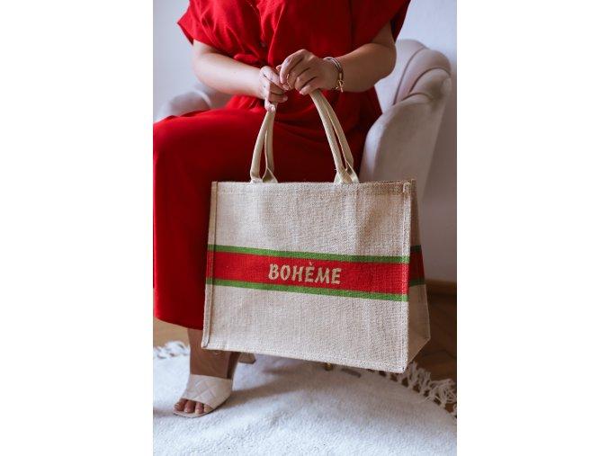 Ľanová taška do ruky BOHEME