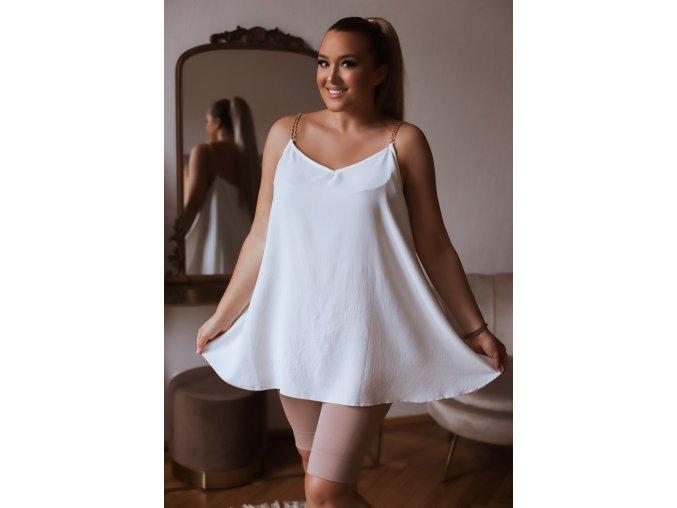 Biely top s retiazkovými ramienkami