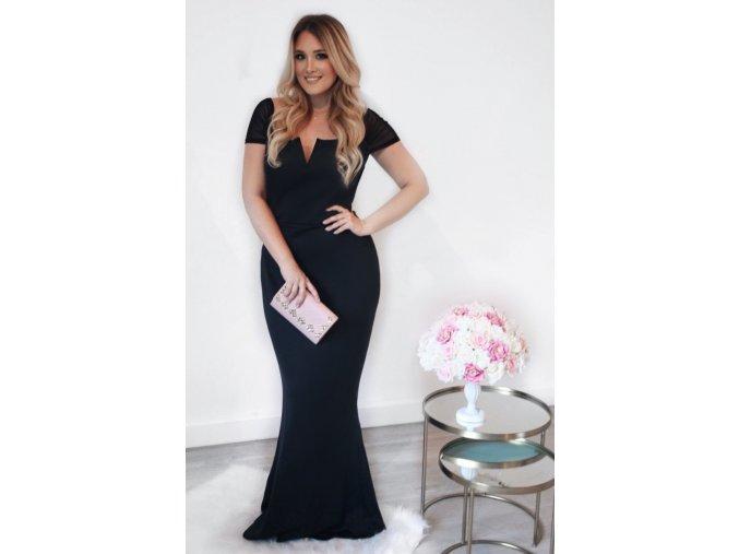 Dlhé čierne elegantné šaty