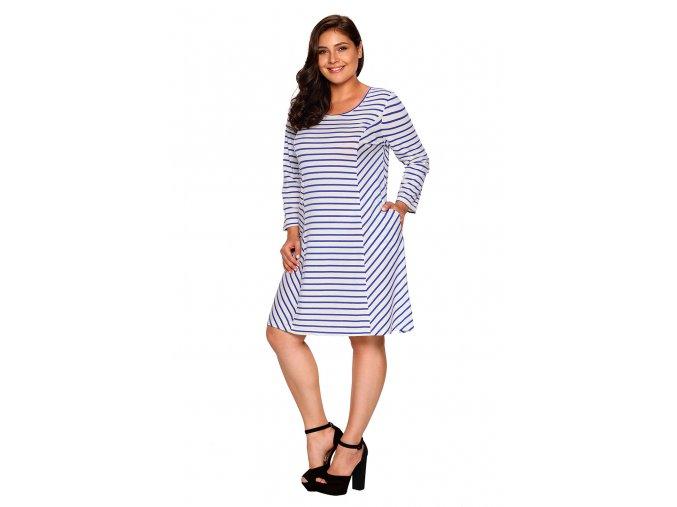 Bielo modré prúžkované šaty4