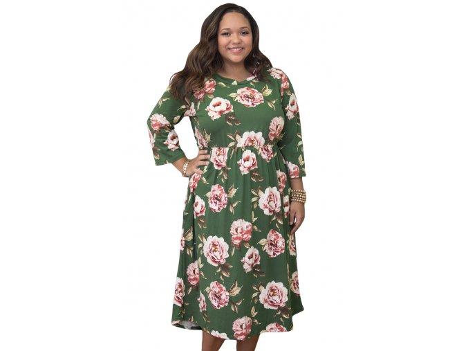 dámske plus size šaty