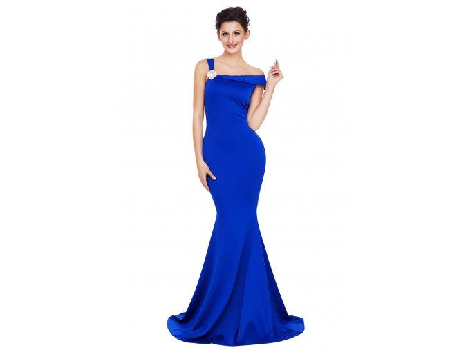 Spoločenské šaty v modrej farbe