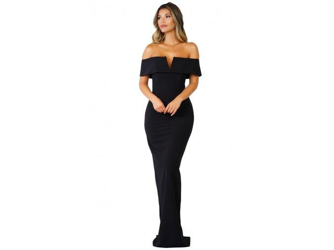 Dlhé spoločenské šaty v čiernej