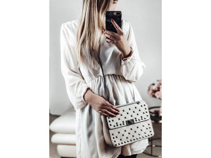 Béžová vybíjaná kabelka