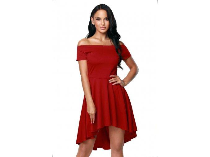 Asymetrické koktejlové šaty v červenej