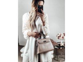 Béžová kabelka s efektom krokodílej kože