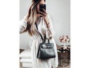 Sivá kabelka s efektom krokodílej kože