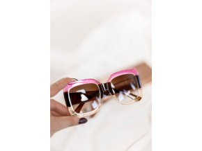 Farebné oversized slnečné okuliare