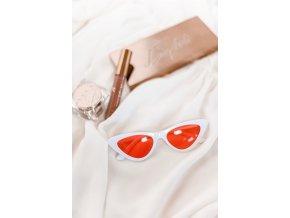 Bielo-červené cateye okuliare Ally