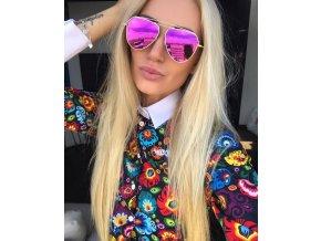 Ružové slnečné okuliare Dara
