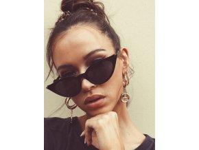 Čierne cateye slnečné okuliare Stasy
