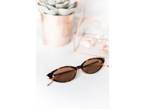 Hnedé úzke okuliare Zana