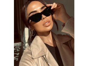 Čierne cateye okuliare Delia