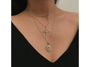 Zlatý vrstvený náhrdelník Bella
