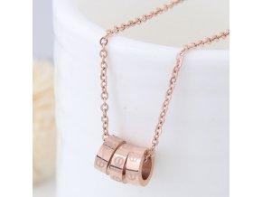 Zlatý náhrdelník Love