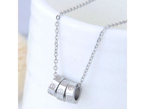 Strieborný náhrdelník Love