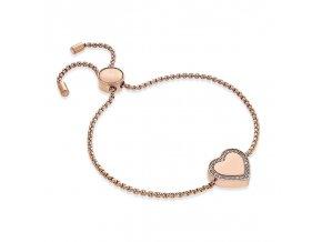 Elegantný rose gold náramok Heart
