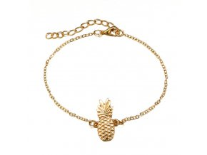 Zlatá retiazka na nohu Pineapple